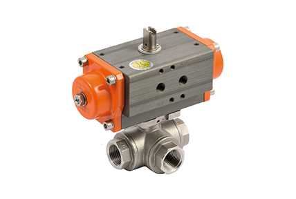 2 and 3-way ball valve,  precision cast, sand-blasted, AISI 316 stainless steel body.