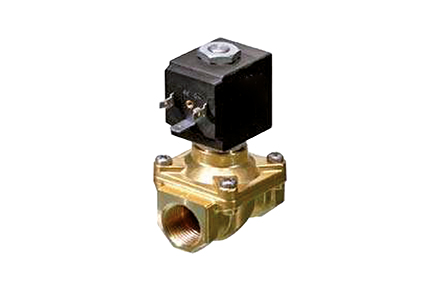 2-way servo-assisted solenoid valves, driven diaphragm, brass body.